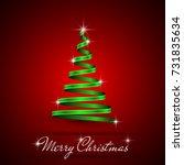 green christmas  tree simple... | Shutterstock .eps vector #731835634