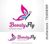 beauty fly logo template design ...   Shutterstock .eps vector #731838589
