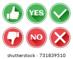 set red and green icons buttons.... | Shutterstock .eps vector #731839510