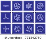 hand wheel icon. vector... | Shutterstock .eps vector #731842750