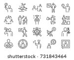 business people icons | Shutterstock .eps vector #731843464