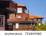 city landscape   balconies of... | Shutterstock . vector #731845480