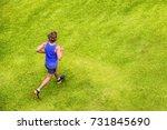 runner man running jogging on... | Shutterstock . vector #731845690