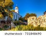city landscape   orthodox... | Shutterstock . vector #731848690