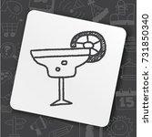 doodle cocktail | Shutterstock .eps vector #731850340