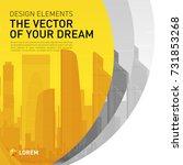 design element for corporate... | Shutterstock .eps vector #731853268