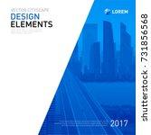 design element for corporate... | Shutterstock .eps vector #731856568
