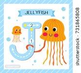 letter j uppercase cute... | Shutterstock .eps vector #731865808