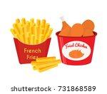 fried chicken  legs  wings ... | Shutterstock .eps vector #731868589