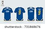 t shirt sport design template... | Shutterstock .eps vector #731868676