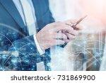 business  connection ideas... | Shutterstock . vector #731869900