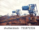 harbor handling equipment | Shutterstock . vector #731871526