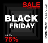 black friday sale with discount ... | Shutterstock .eps vector #731872360