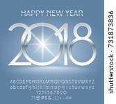 vector luxury happy new year... | Shutterstock .eps vector #731873836