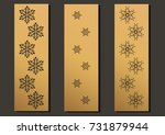 laser engraving panels set.... | Shutterstock .eps vector #731879944