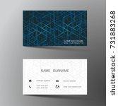 modern business card template... | Shutterstock .eps vector #731883268