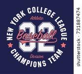 new york  baseball typography... | Shutterstock .eps vector #731887474