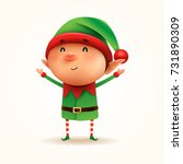 little elf. vector illustration ... | Shutterstock .eps vector #731890309