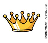 cartoon crown | Shutterstock .eps vector #731902810