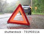 emergency warning triangle  a... | Shutterstock . vector #731903116