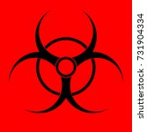 biohazard sign. warning... | Shutterstock .eps vector #731904334