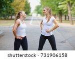 beautiful  sexy sports girls... | Shutterstock . vector #731906158