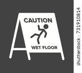 wet floor sign | Shutterstock .eps vector #731910814