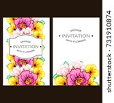 vintage delicate invitation... | Shutterstock . vector #731910874