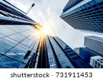 bottom view of modern... | Shutterstock . vector #731911453