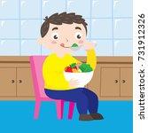health campaign for children... | Shutterstock .eps vector #731912326