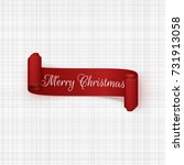 vector christmas red scroll... | Shutterstock .eps vector #731913058