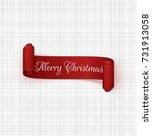 vector christmas red scroll...   Shutterstock .eps vector #731913058