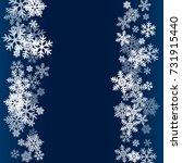 winter card border of snow... | Shutterstock .eps vector #731915440