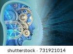 3d illustration of gears over...   Shutterstock . vector #731921014