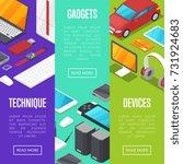 modern gadgets and computer...   Shutterstock .eps vector #731924683