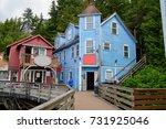 the historic creek street in... | Shutterstock . vector #731925046