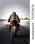 professional motorcycle rider... | Shutterstock . vector #731925676