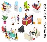 isometric 3d set corporate... | Shutterstock .eps vector #731925733