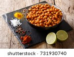 healthy snack  fried spicy... | Shutterstock . vector #731930740