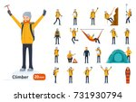 climber set. ready to use... | Shutterstock .eps vector #731930794
