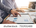 two executive businessman... | Shutterstock . vector #731931400