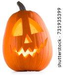 halloween pumpkin isolated on... | Shutterstock . vector #731935399