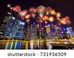beautiful firework over central ... | Shutterstock . vector #731936509