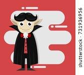 cute vampire cartoon character... | Shutterstock .eps vector #731936956