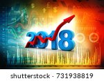business graph with arrow up... | Shutterstock . vector #731938819