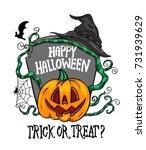 happy halloween vector... | Shutterstock .eps vector #731939629
