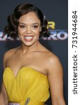 Small photo of Tessa Thompson at the World premiere of 'Thor: Ragnarok' held at the El Capitan Theatre in Hollywood, USA on October 10, 2017.