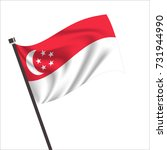 singapore flag. singapore icon... | Shutterstock .eps vector #731944990
