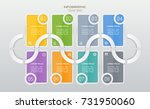 infographics design template... | Shutterstock .eps vector #731950060