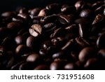 coffee beans of popular drinks... | Shutterstock . vector #731951608